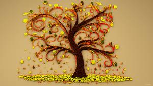 Autumn Wall by kuzy62