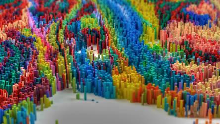 Rainbow Pylons by kuzy62