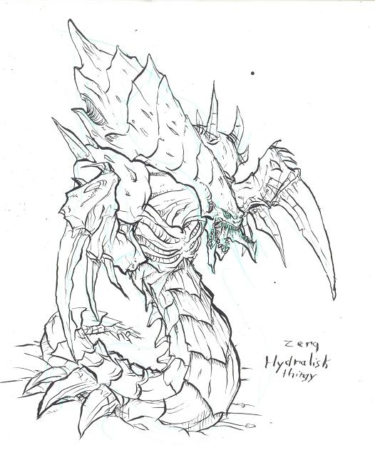 Starcraft zerg hydralisk ii by atryl on deviantart for Starcraft coloring pages