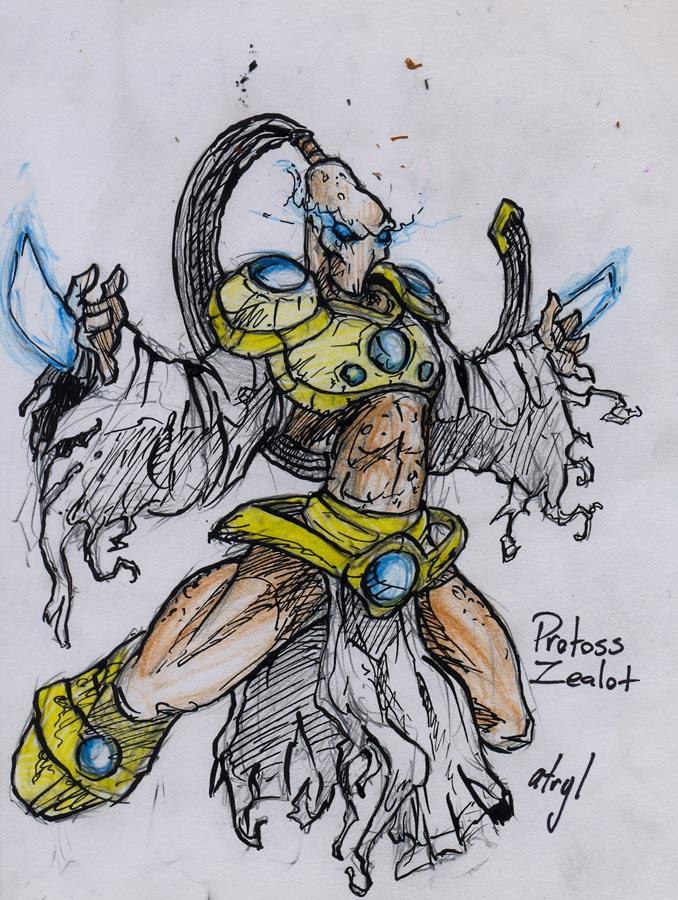 Protoss Zealot by atryl