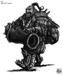 Warhammer - Ogre with cannon