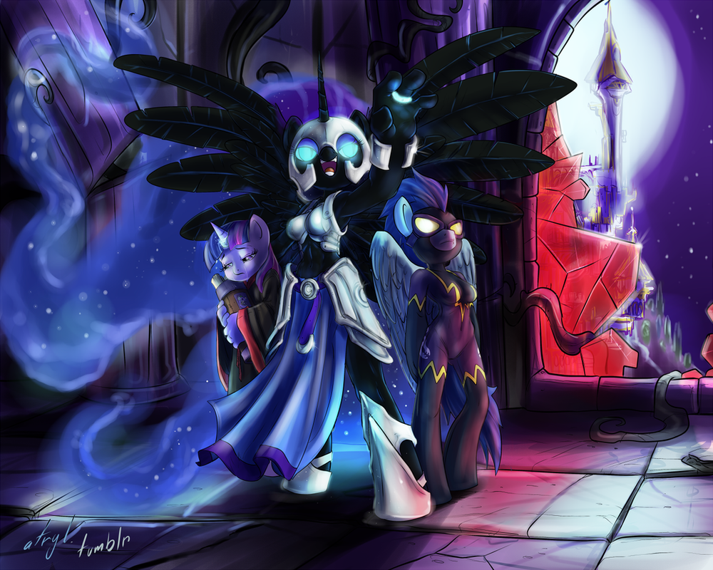 Commission - The Dawn of the Night by atryl
