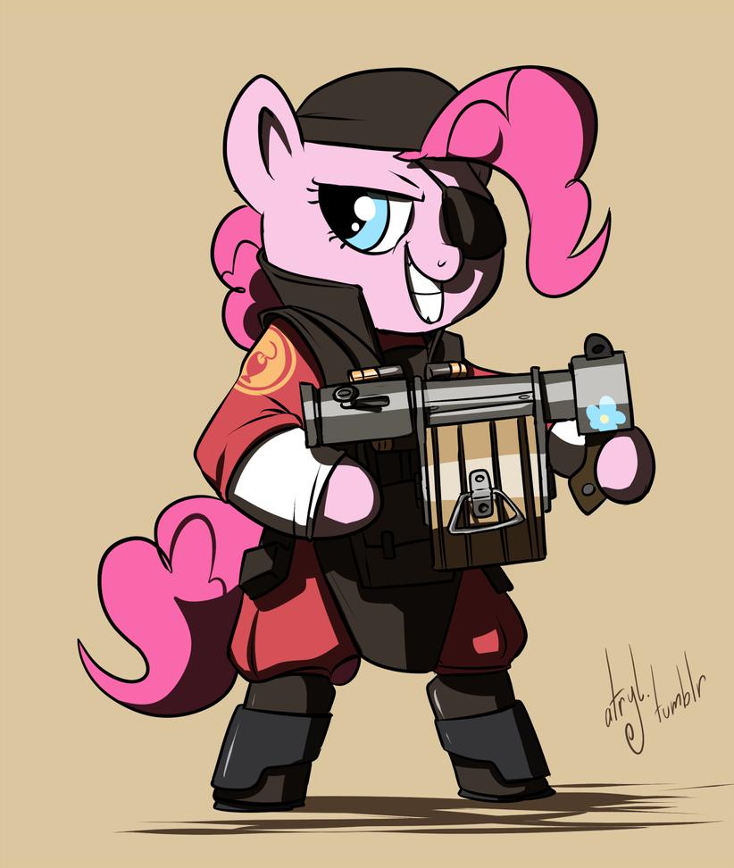 Pony TF2 - RED Demoman by atryl