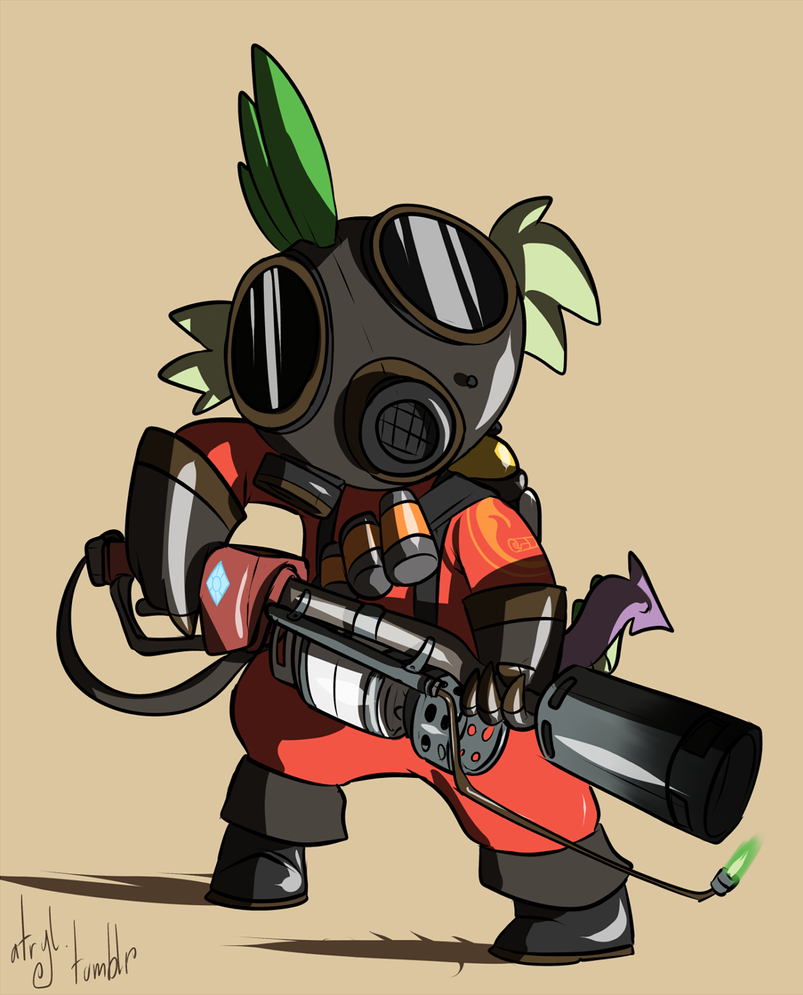 Pony TF2 - RED Pyro by atryl