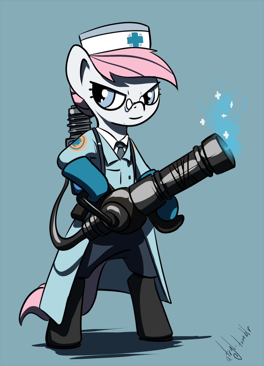 Pony TF2 - BLU Medic by atryl