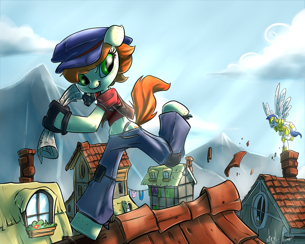 Commission - One Jump Ahead by atryl