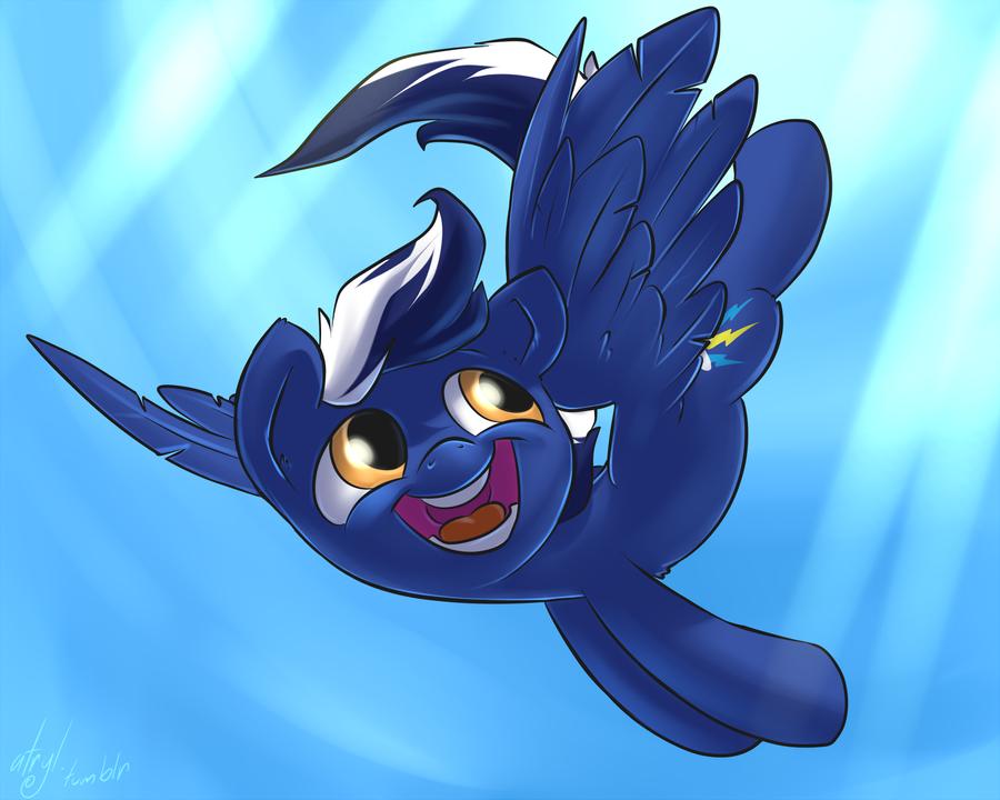 Commission - Blue Blaze by atryl