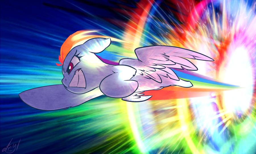 Sonic Rainboom by atryl