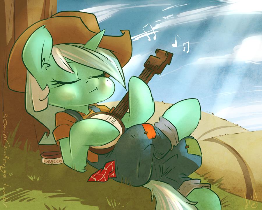 30min Challenge - Redneck Lyra by atryl