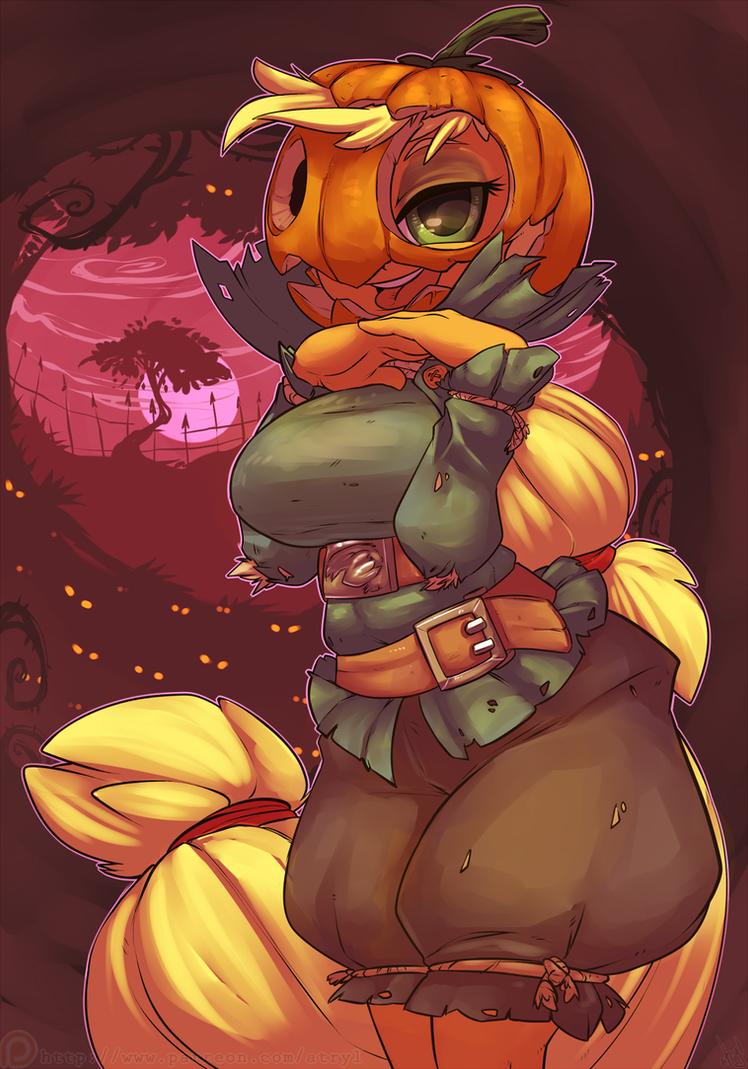 Applejack-o'-Lantern by atryl