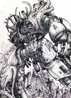 Giant robot by atryl
