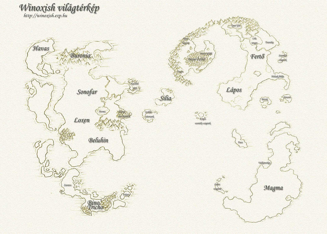 Winoxish World Map by atryl