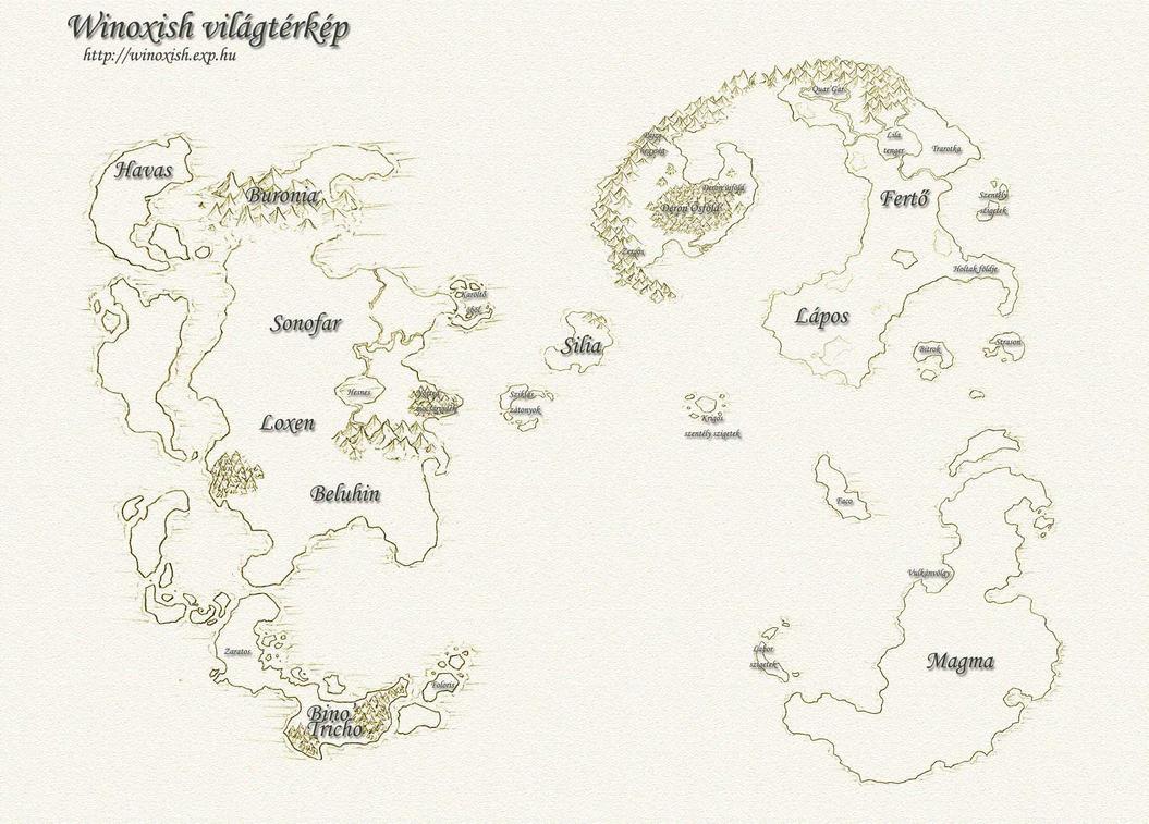 Winoxish World Map by atryl