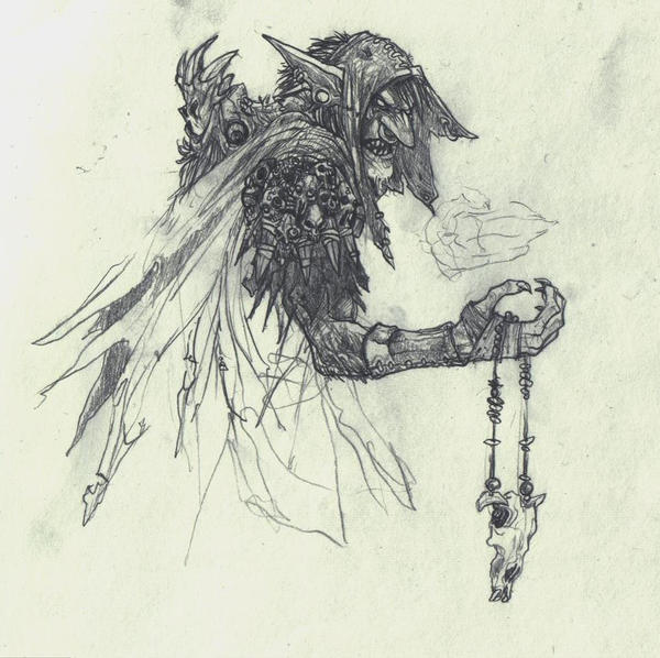 Goblin Shaman - WIP by atryl
