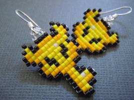 Boss Key Pixel Earrings by Pixelosis