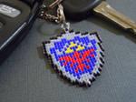 Hylian Shield Pixel Keychain