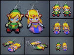 Hand Woven Seed Bead Link and Zelda Earrings