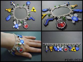 Legend of Zelda Charm Bracelet 3 by Pixelosis