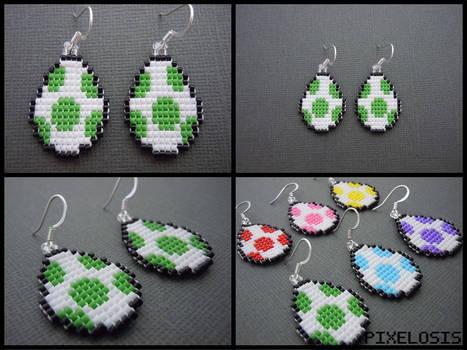 Yoshi Egg Earrings