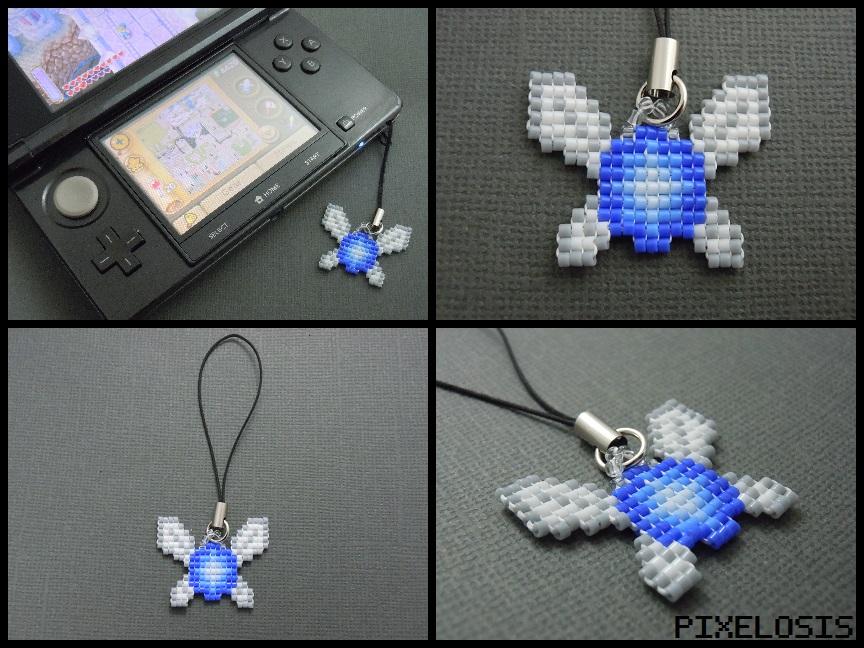 Handmade Seed Bead Navi Phone Charm by Pixelosis
