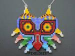 Handmade Seed Bead Majora's Mask Necklace