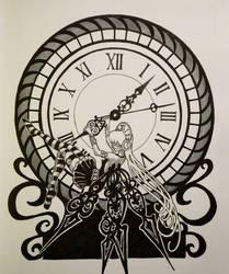 Inktober day 14: clock fairy