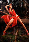 red forest fairy