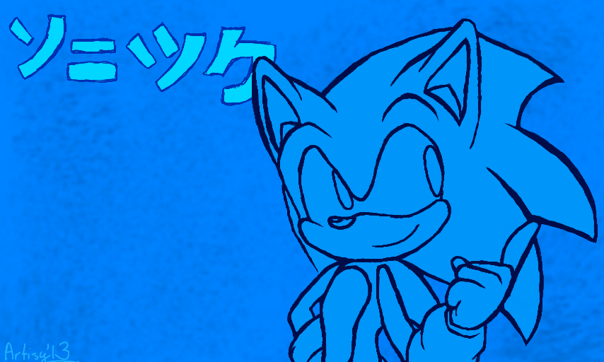 how to draw sonic channel style