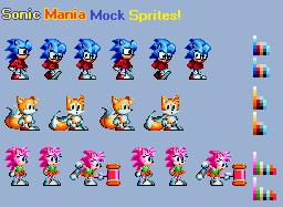 Sonic Mania Mock Sprites by ArtisyOne
