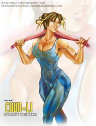 Chun-Li Towel by Refaal by elee0228