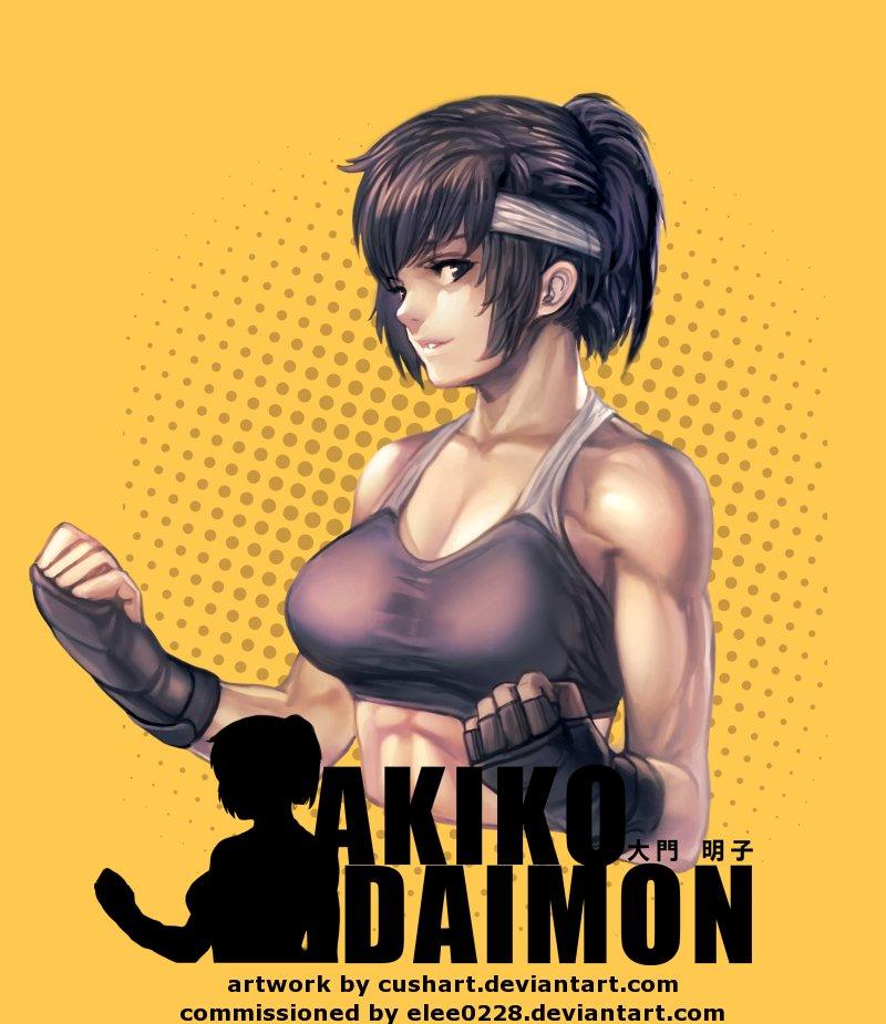 Akiko Daimon by Cushart by elee0228