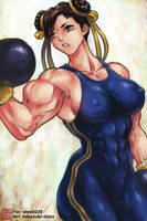 Muscle Chun-Li by Mikazuki by elee0228