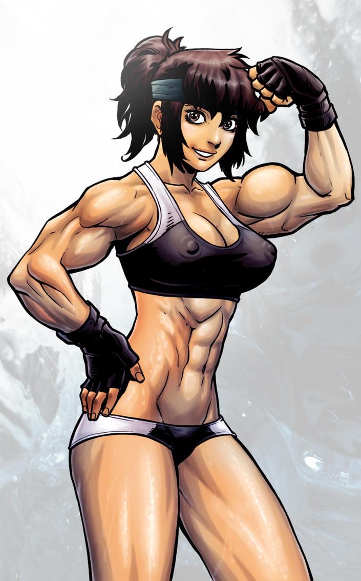 Muscle Akiko Daimon by Danusko by elee0228