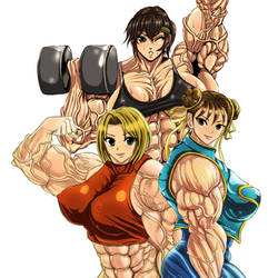 Muscle Girls by S20K00Y