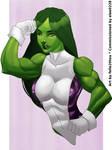 She-Hulk by felle2thou