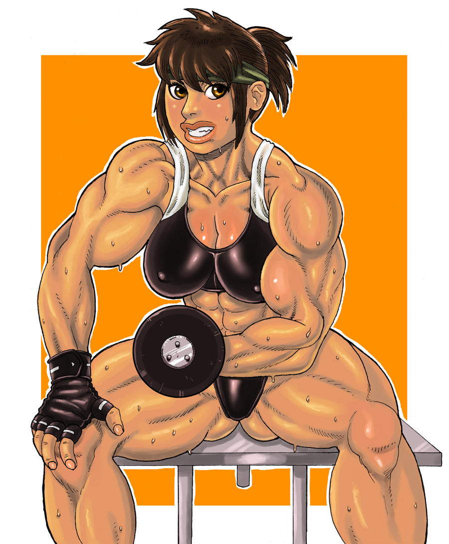Muscle Akiko Dumbbell Curl by elee0228