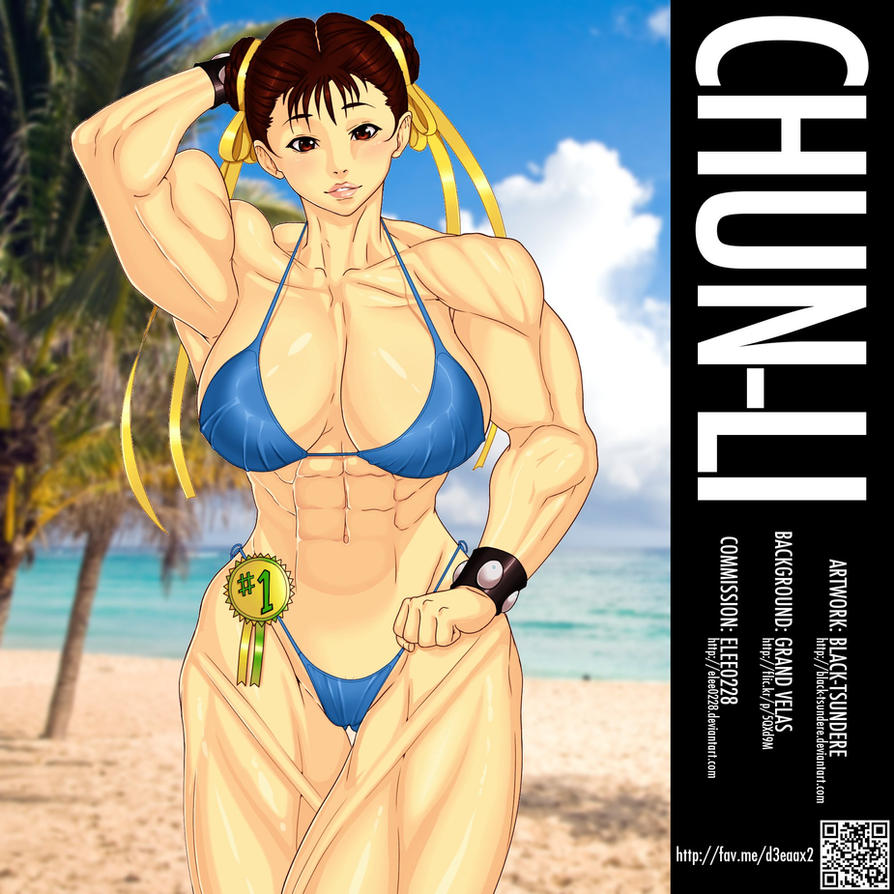 Chun-Li -black-tsundere by elee0228