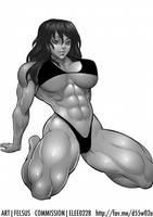 She-Hulk by Felsus by elee0228