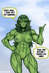 She-Hulk Nude by elee0228