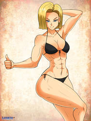 Android 18 by elee0228