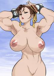 Chun-Li Nude by elee0228