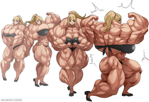 Samus Muscle Growth (Part 3: Level 9-12)