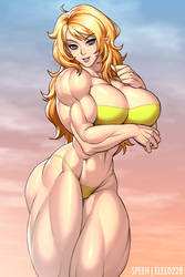 Blonde Muscle Girl by elee0228