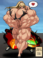 Samus Muscle Growth (Part 6: Level 24) by elee0228
