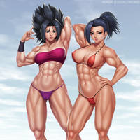 Caulifla and Kale by elee0228
