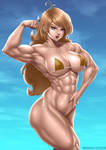 Blonde Muscle Girl