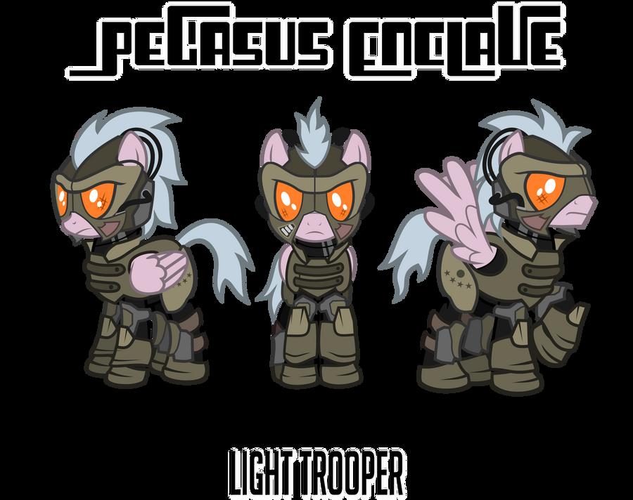 Fallout Mod Concept: Enclave Light Trooper by Brisineo