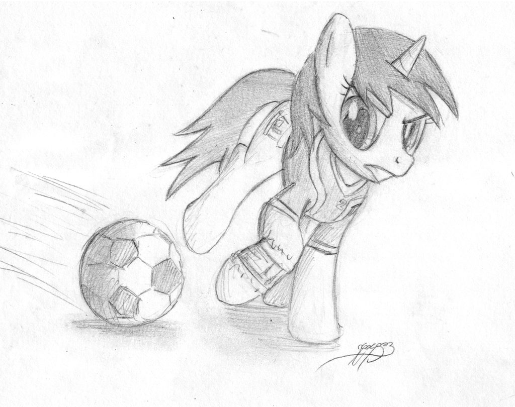 Littlepip playing soccer... Wut? by Brisineo