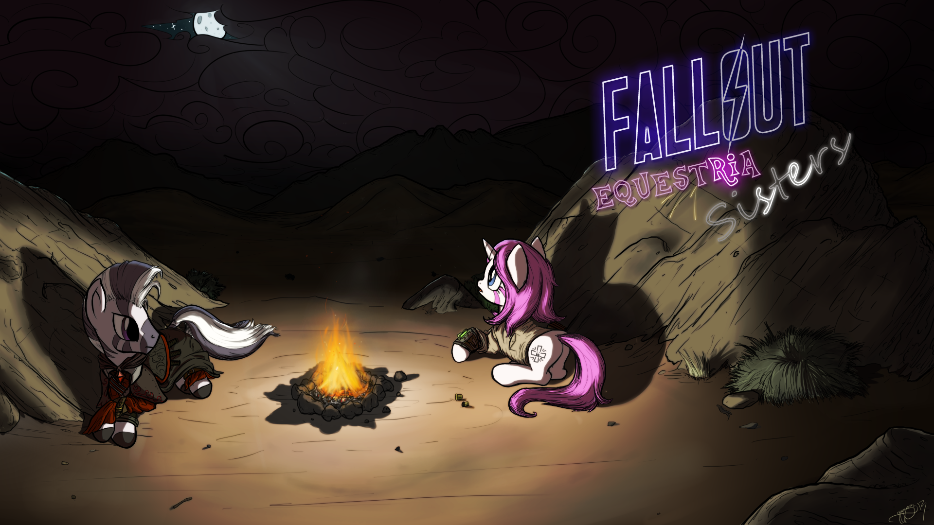 Commission - Fallout Equestria: Sisters Cover by Brisineo