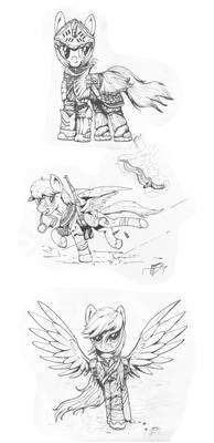Random Ink Sketches